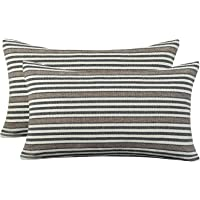 AmHoo Pack of 2 Striped Throw Pillow Cover Soft Comfortable Pillow Case Cushion Cover with Hidden Zipper for Couch…