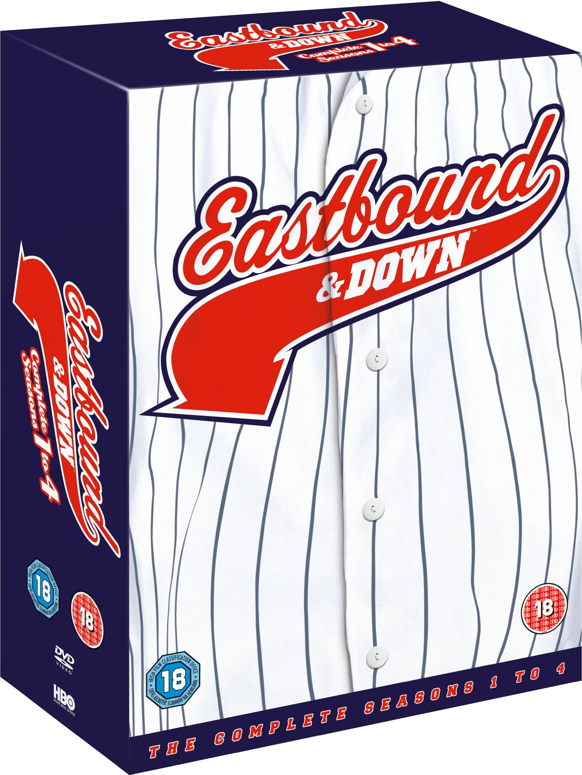 Eastbound & Down (Complete Seasons 1-4) - 8-DVD Box Set ( East bound and Down - Complete Seasons One, Two, Three & Four ) [ NON-USA FORMAT, PAL, Reg.2 Import - United Kingdom ]