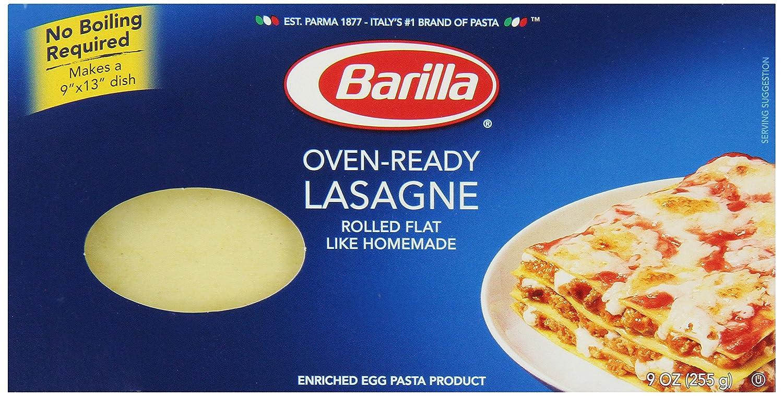 Barilla Pasta, Oven-Ready Lasagne, 9 ounce