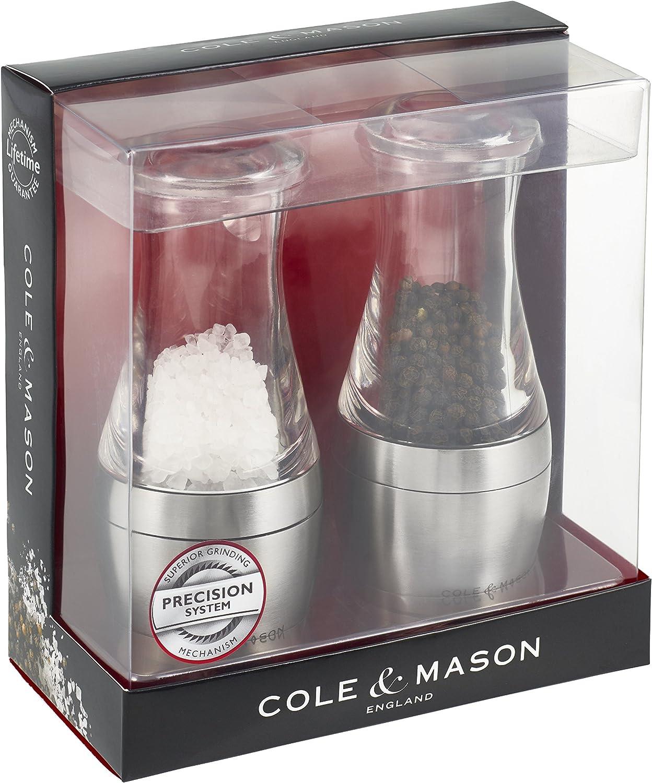Cole /& Mason P2I H308698P Set di macina Sale e Pepe Wishford Acrilico Trasparente 6 x 6 x 14 cm 6/x 14/cm