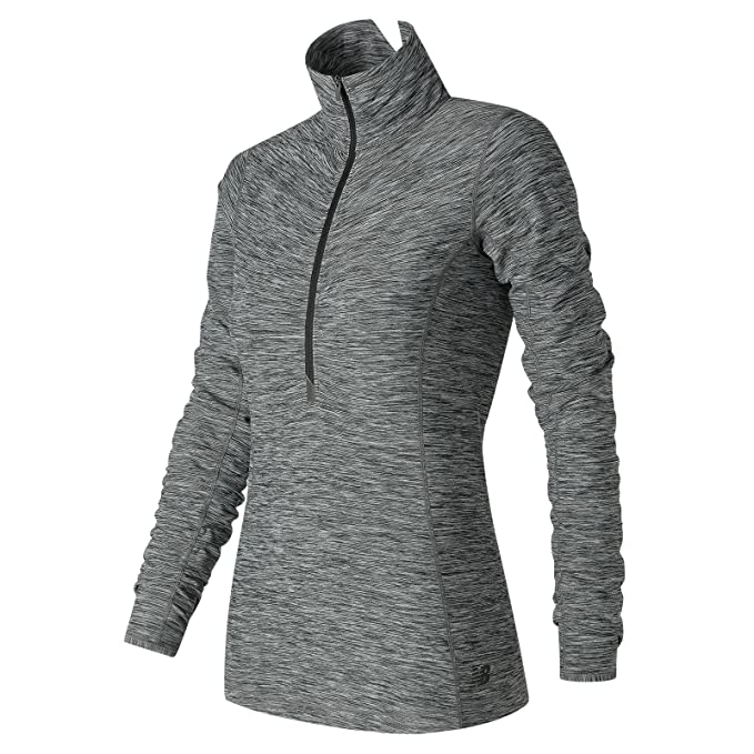4e16236586cc3 Amazon.com: New Balance Women's in Transit Half Zip Shirt: Clothing