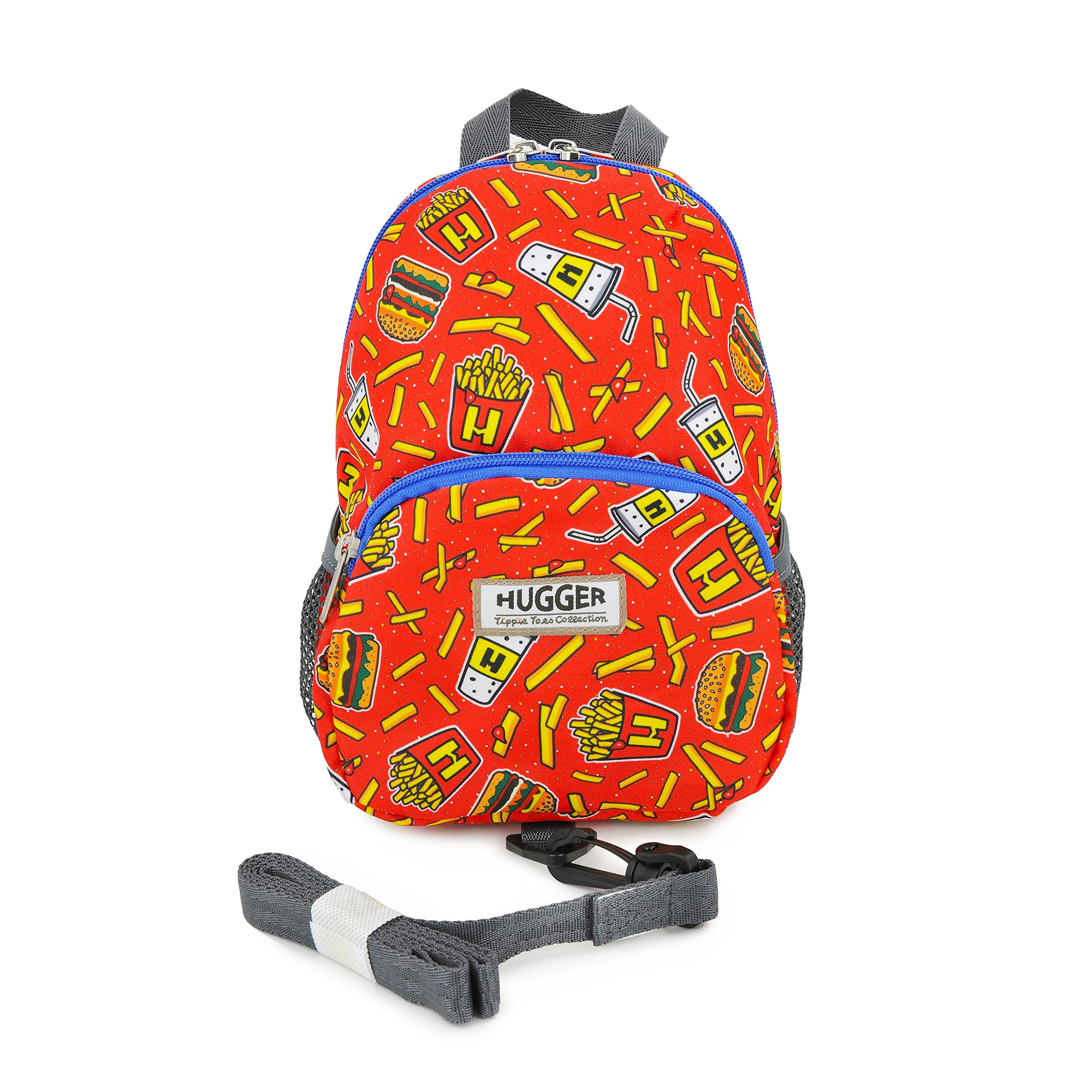 Hugger Totty Tripper Toddler's Backpack with Safety Harness (HOJO's Burgers and Fries)