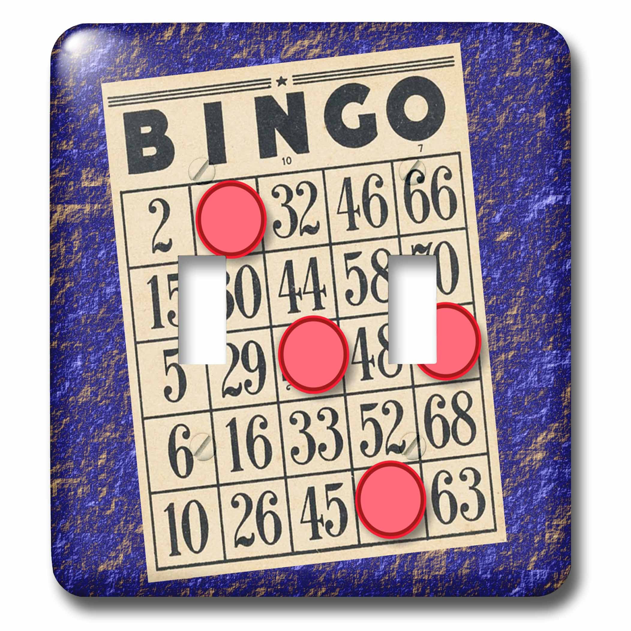 TNMGraphics Games - Playing Bingo - Light Switch Covers - double toggle switch (lsp_238273_2) by 3dRose