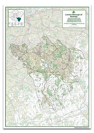Approx Size 118.9 x 84.1 cm London Borough of Sutton Map