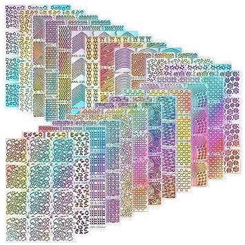 Amazon.com: hicarer 288 piezas uñas Nail Art puntas de ...