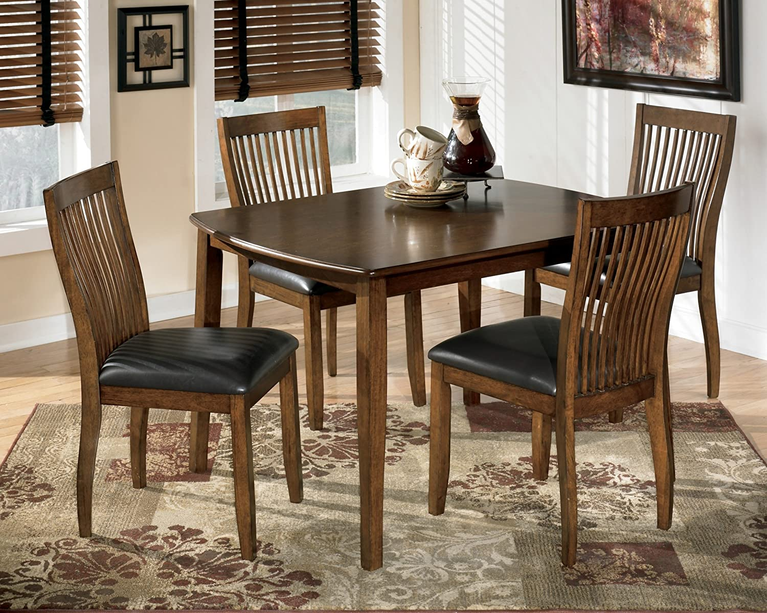 Amazon.com   Ashley D293 225 Stuman Rectangle Dining Room Table Set   Table  U0026 Chair Sets Part 72