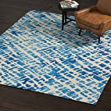 Amazon Brand – Rivet Modern Geometric Area Rug, 8 x 10 Foot, Blue