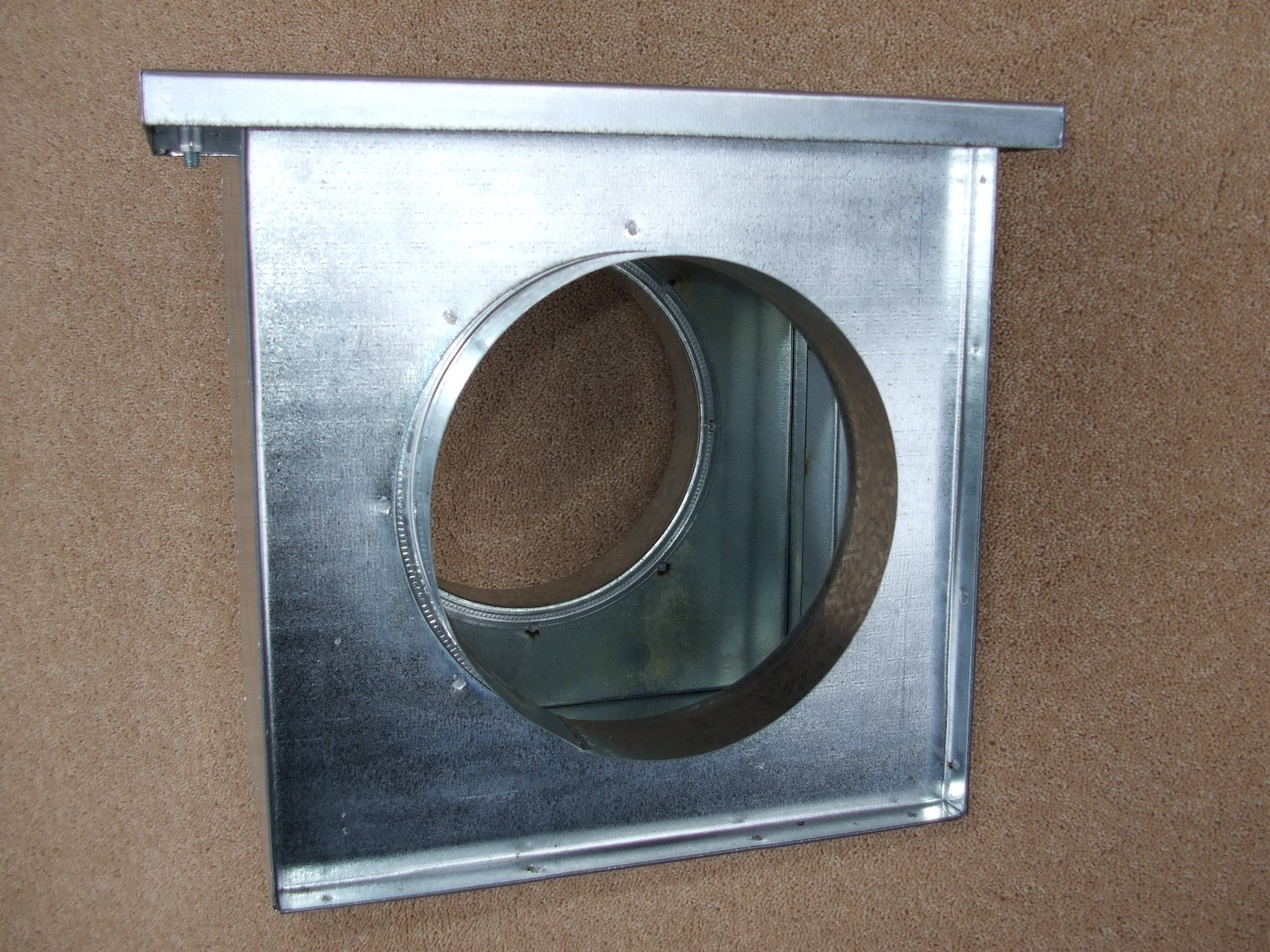 150mm diameter in-line filter box, hydroponics grow room ventilation, galvanised steel ducting by Ventilation Centre