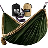 ErgaLogik Double Nest Camping Hammock Set w XXL Tree Friendly Suspension Straps - 20 feet total - 500 lbs Capacity - 34 Loops - 10 feet 6 inches x 6 feet 6 inches