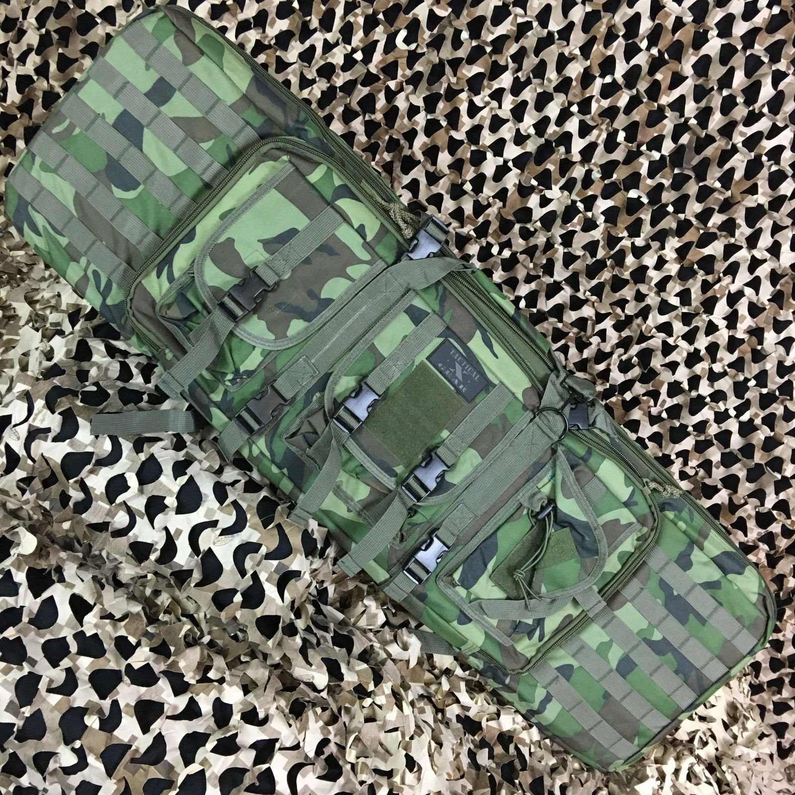 Gen X Global Tactical 42'' Paintball Airsoft AR15 Dual Rifle Gun Bag - Camo
