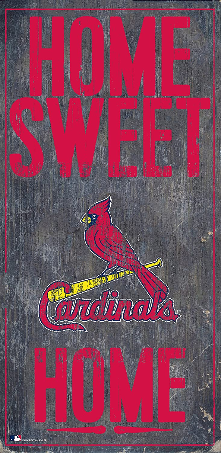 """Fan Creations St. Louis Cardinals 6"""" x 12"""" Home Sweet Home Wood Sign"""