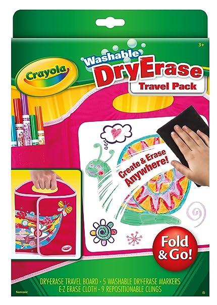 amazon com crayola washable dry erase travel pack fold go art