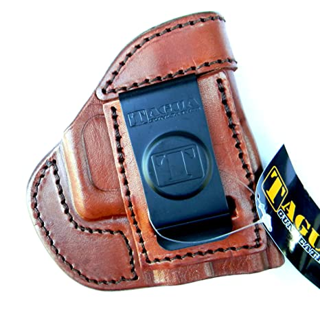 HOLSTERMART USA TAGUA BROWN RIGHT HAND SIDE Leather In/Inside the Pants  Reinforced Mouth Holster for TAURUS MILLENNIUM PRO G2 G2C G2S PT111 PT140  PT