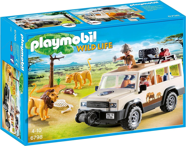 Playmobil SAFARI Nature Reserve Jeep 6798 avec Lion Pride New