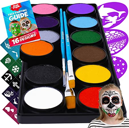 Kids Face Painting Set Skin Safe Child Face Body Painting Kit Party Dressing Up