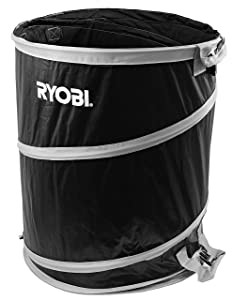 Ryobi 40 Gallon Collapsible and Reusable Lawn and Garden Bag with Quadruple Hand Strap System (21.5 Inches Wide x 26 Inches Tall)