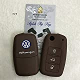 SFK Silicone Flip key cover for Volkswagen Polo/Vento/Jetta Flip Keys(for 3 Button flip key)