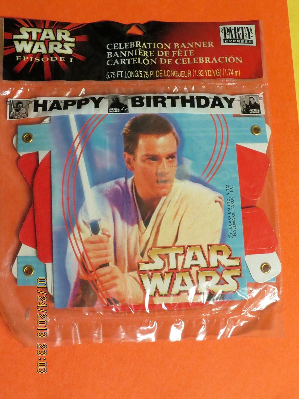 Star Wars Episode I Happy Birthday Celebration Banner   B007P6FVII