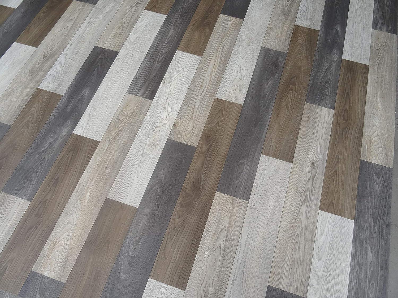 PVC Bodenbelag in warmer Holz Optik kleines Muster 5,75/€//m/²
