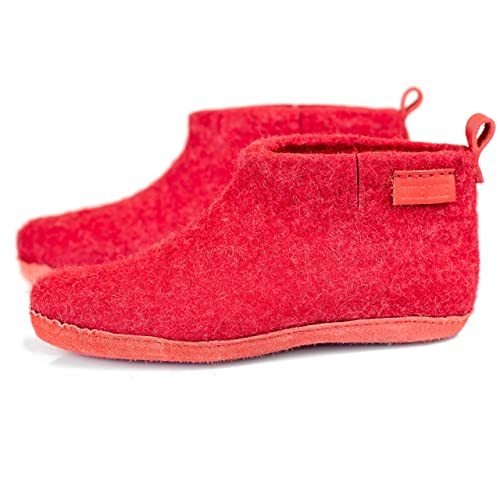 937a4c94fa7c7 Amazon.com: BureBure Classic Felted Wool Ankle Boots Slippers for ...
