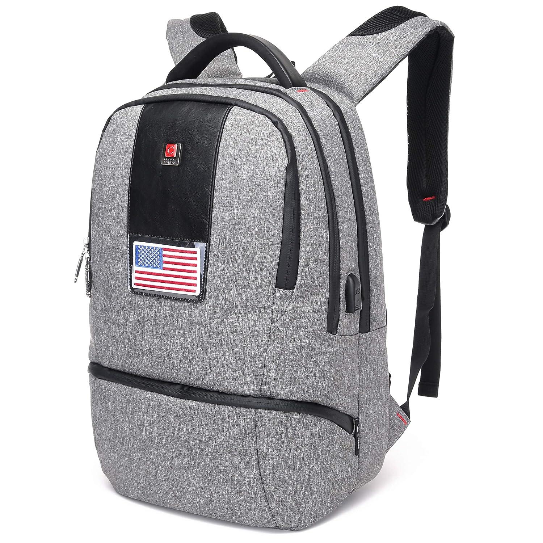 1810267ff4d4 Amazon.com  CrossLandy School College Backpack Laptop USB Charging Bookbag  Headphone Port  Clothing