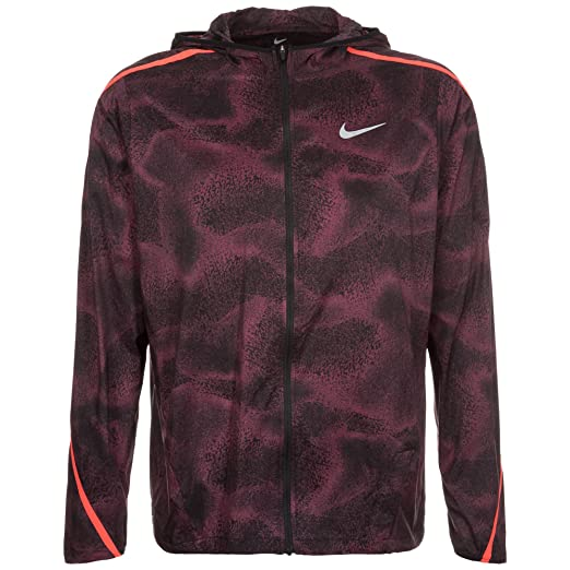 ffdc764420f5 Nike Shield Impossibly Light Hooded Mens Running Jacket 800899 (Large