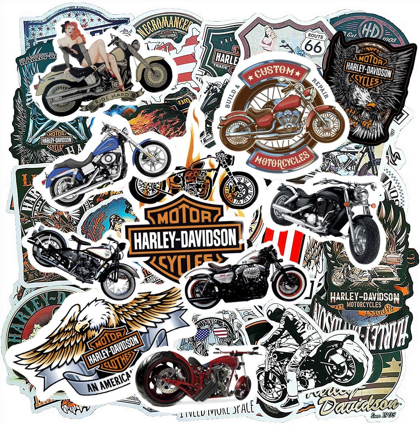 Motorcycle Mens Adults Sticker Pack (100-pcs)