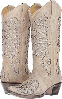 Amazon.com | Cowboy Professional - Women\'s I Do White Western Bridal ...