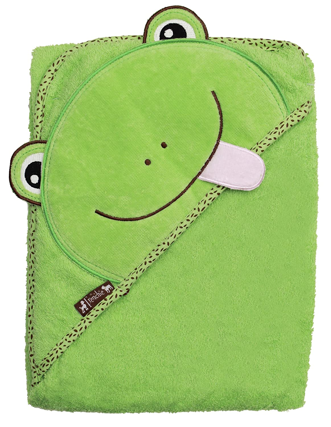 FRENCHIE MINI COUTURE Frog Hooded Towel, Green 155
