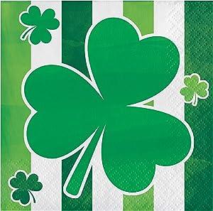 Creative Converting Irish Shamrocks Beverage Napkins, 5