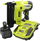 Ryobi P320-P128 18-Volt One+ AirStrike 18-Guage Cordless Brad Nailer with Battery and IntelliPort Charger