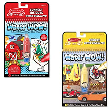 Amazon.com: Melissa & Doug On the Go Water Reveal – Water WOW ...