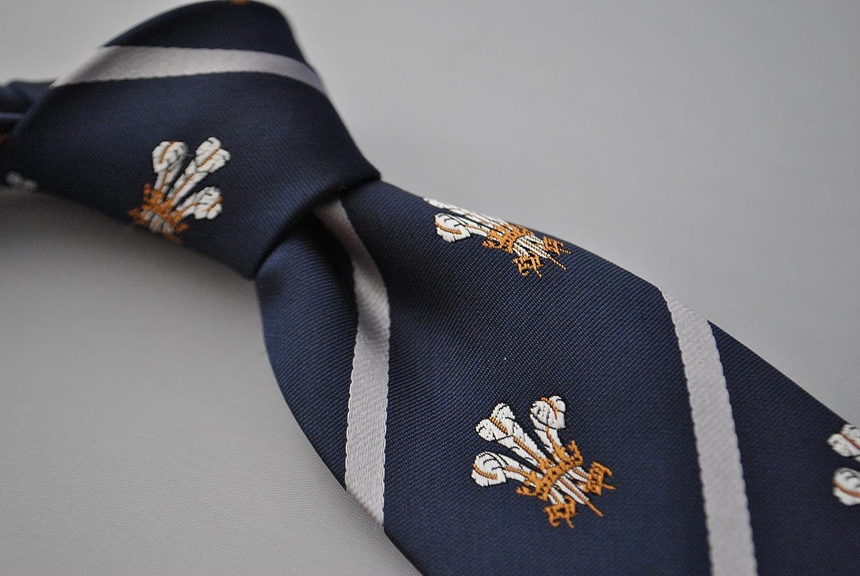 Frederick Thomas Azul Marino Príncipe De Gales Plumas CORBATA CON ...