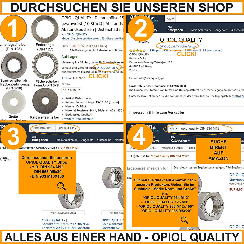 tuercas jaula para chapa de acero inoxidable A2/tuercas enjauladas | cuadrado opiol Quality 20/unidades