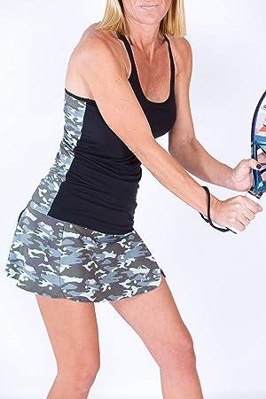 Camiseta Técnica Tirantes Pádel Mujer Camuflaje/Topos (M): Amazon.es: Deportes y aire libre