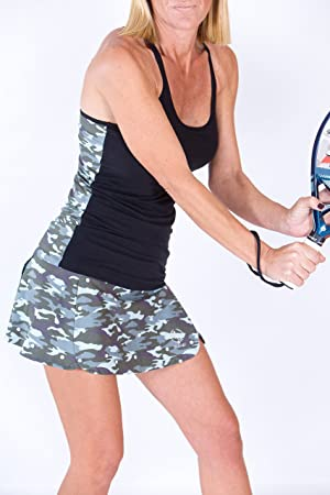 Camiseta Técnica Tirantes Pádel Mujer Camuflaje/Topos (M): Amazon ...