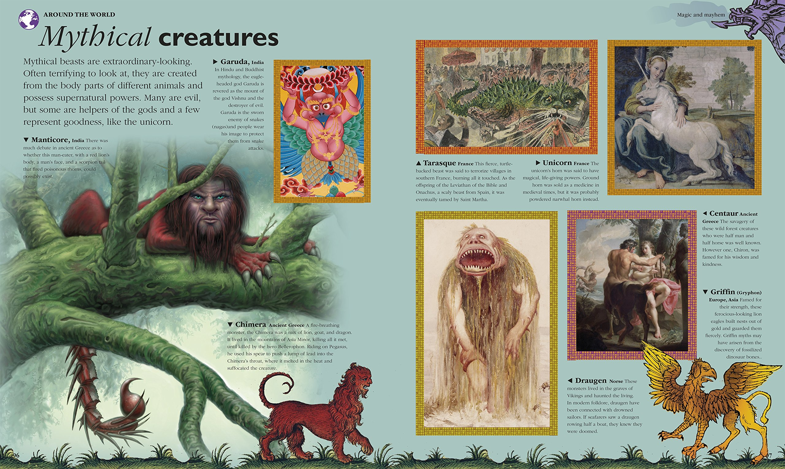 children u0027s book of mythical beasts and magical monsters amazon co