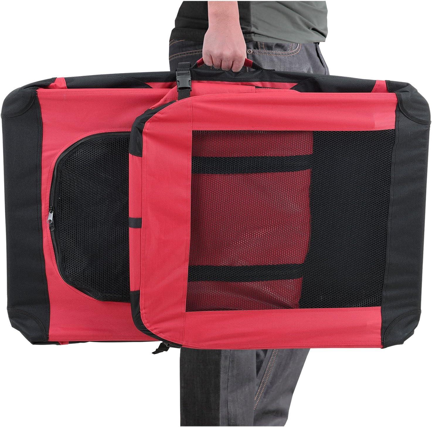 box de transport pour chien taille XXXL gris - pliable pro.tec