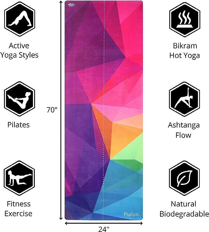 Amazon.com: Plyopic - Esterilla de yoga de viaje, ligera ...