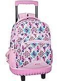 Moos  Flamingo Pink Oficial Mochila Escolar Grande Con Ruedas 320x140x460mm