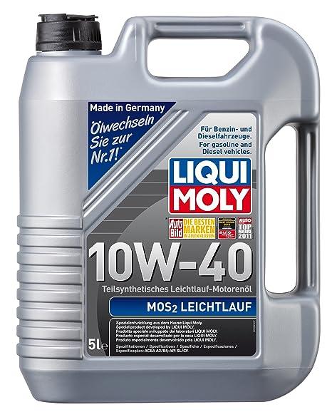 Liqui Moly 1092 MoS2 Leichtlauf 10W-40 - Aceite semisintético para motores de automóviles de