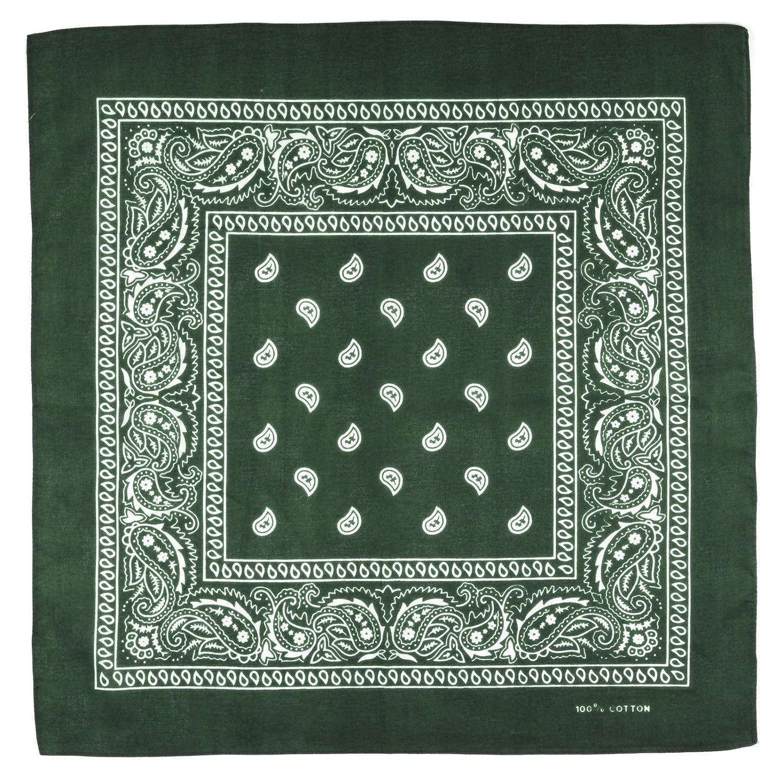 All/ée du foulard Bandana olive