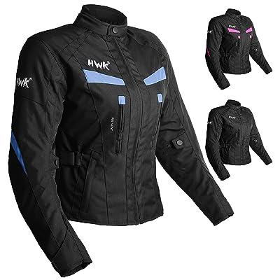 Women's Motorcycle Jacket For Women Stunt Adventure Waterproof Rain Jackets CE Armored Stella (Sky Blue, 4XL): Automotive