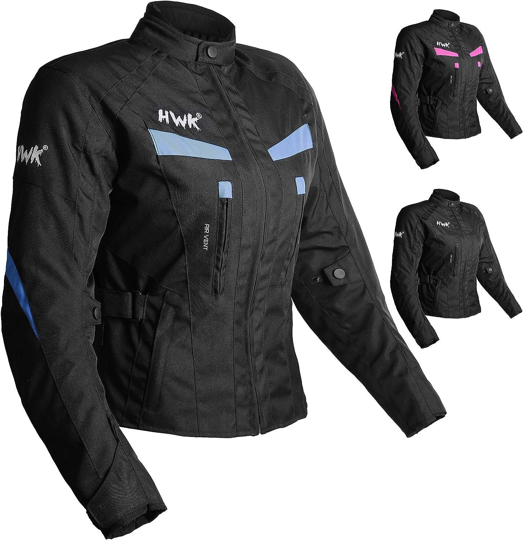 Women's Motorcycle Jacket For Women Stunt Adventure Waterproof Rain Jackets CE Armored Stella (Sky Blue, XL): Automotive