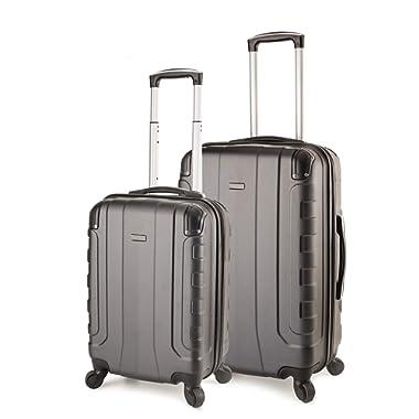 TravelCross Chicago Luggage Lightweight Spinner Set - Dark Gray, 2 Piece (20'' / 24'')
