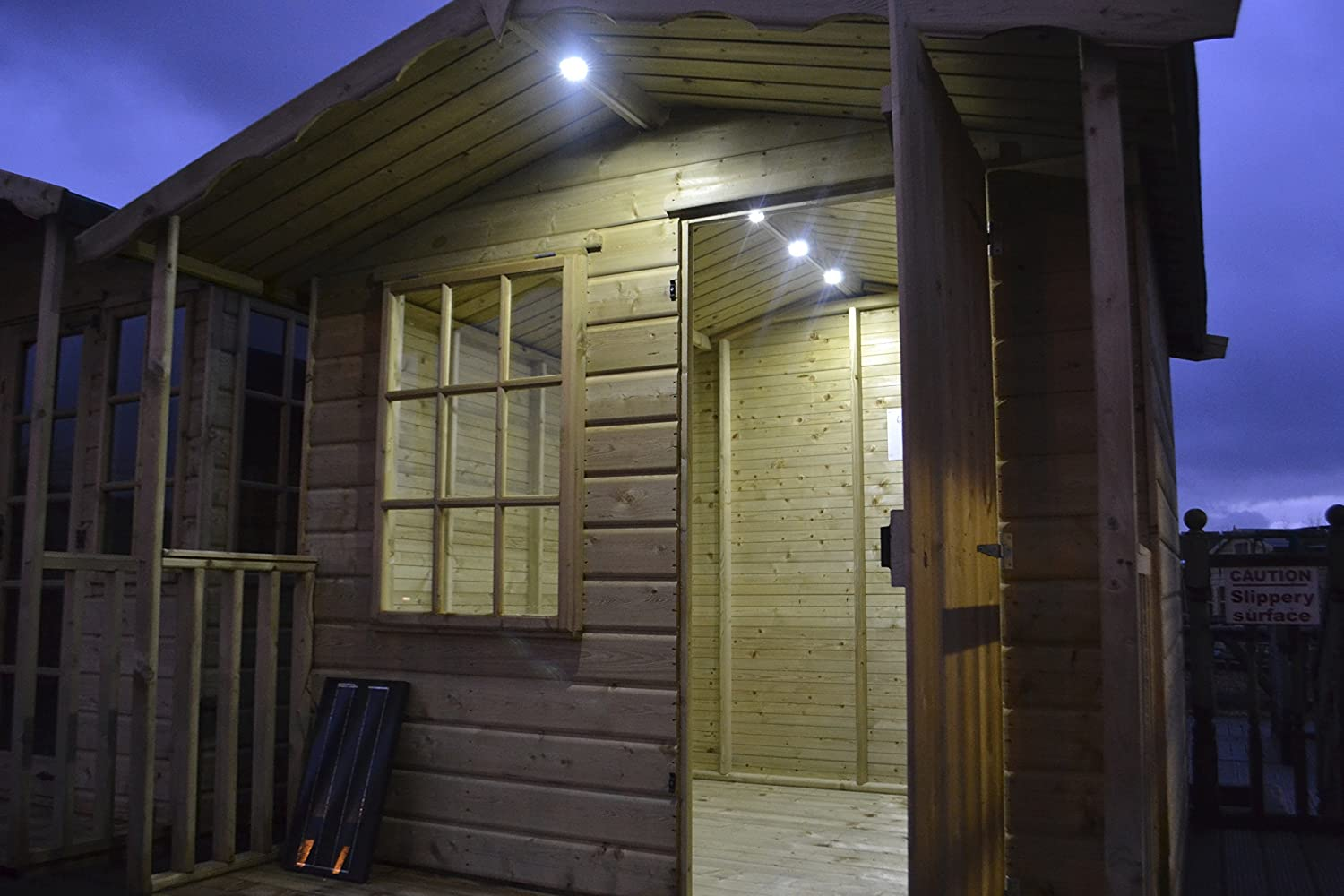 summer house lighting. Britalitez Solar Lighting Kit, Medium, Suited For Sheds, Summer Houses, Small Outbuildings, Stables, Garage, Container, Off The Grid Power: Amazon.co.uk: House R