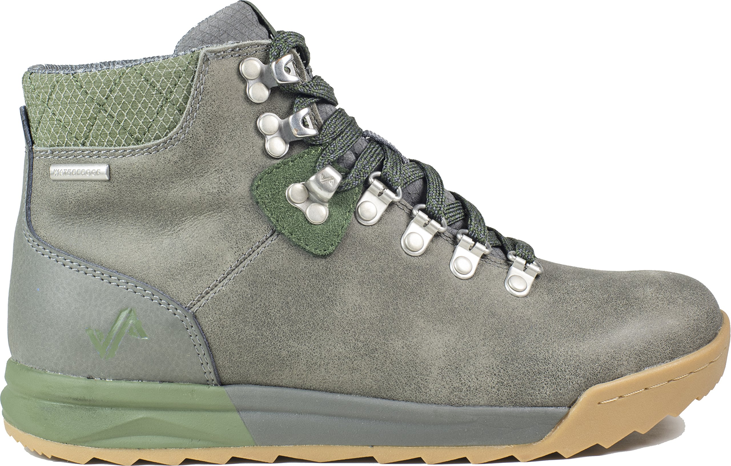 Forsake Patch - Women's Waterproof Premium Leather Hiking Boot (6 D(M), Grey/Cypress)