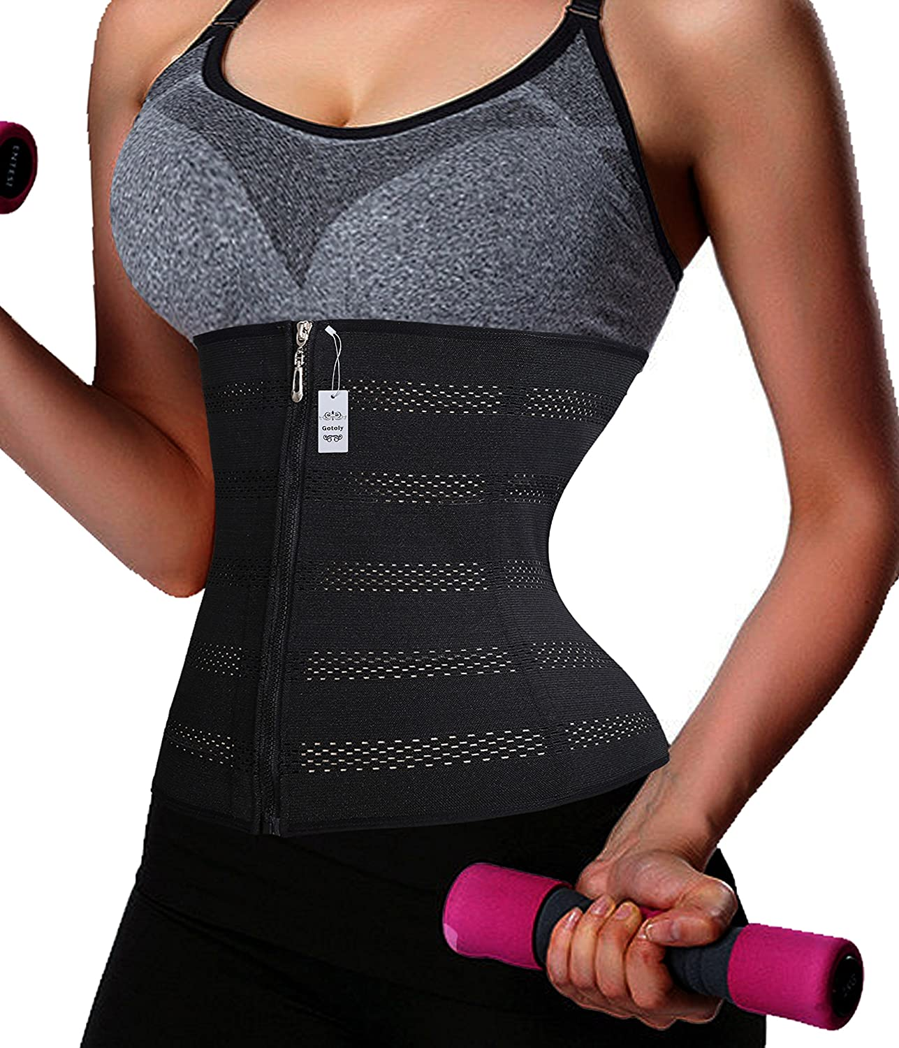 Plus Size Zipper With Hook Waist Trainer Fitness Body Shaper For Hourglass