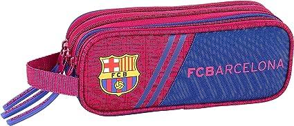 FC Barcelona Corporativa Oficial Estuche Triple Cremallera 210x70x85mm: Amazon.es: Oficina y papelería