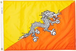 product image for Annin Flagmakers Model 190640 Bhutan Flag Nylon SolarGuard NYL-Glo, 2x3 ft, 100% Made in USA to Official United Nations Design Specifications